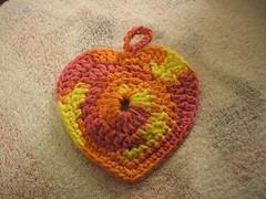 heart scrubbie