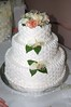 white wedding cake photo