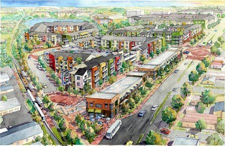 Phase I of Crestview Village, a TOD under way in Austin (by: Trammell Crow & Stratus Properties)