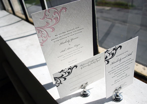 Vettore Letterpress Invitations by Smock