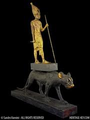 Ritual Figure of King Tut astride a panther. (Sandro Vannini) Tags: art kingtut egypt raft papyrus panther tutankhamun beliefs egyptians egyptianmuseum kv62 howardcarter heritagekey sandrovannini funeraryprocess ritualfigures