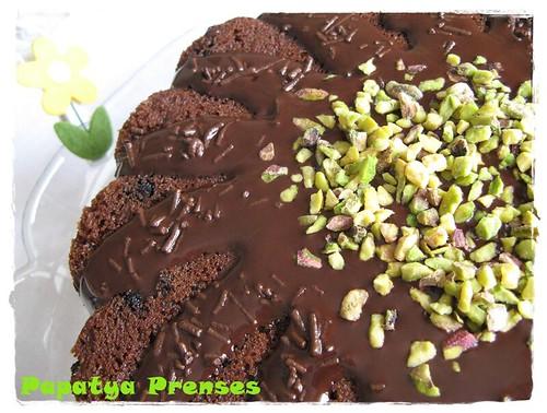 çikolatalı fıstıklı kek