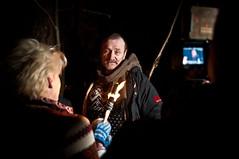 Pagans on TV 4 (Lars Leganger) Tags: winter snow vinter mythology snø sn nrk norse kalvøya blot kalv sn¿ kalv¿ya d300s satru åsatru vinterblot blót annekathærland