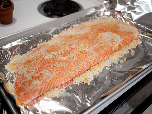 salmon covered in salt citrus