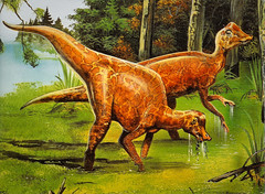 Hypacrosaurus - no giant tail, but possibly very colorful