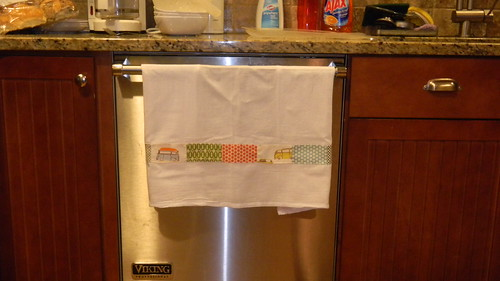 Fun Dish Towel with the Scraps