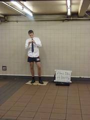 Need $$ 4 Pants (navema) Tags: nyc ny newyork subway manhattan busker recorder performer heraldsquare pantless navema