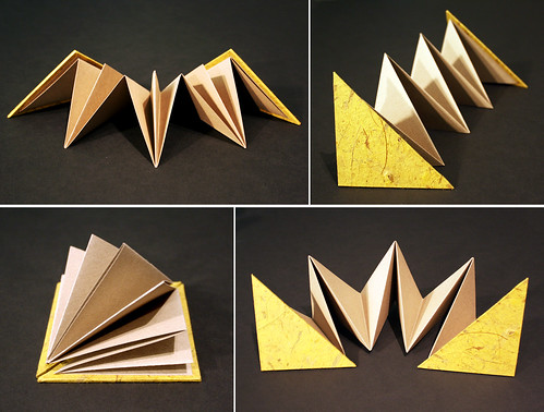 Triangle accordion book
