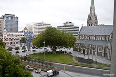 The view out of our Christchurch hotel room