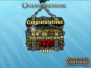 free Ocean Treasure slot bonus feature