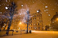 Winter still (Emely [MLY]) Tags: street snow night snowfall