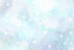 sky & snowflakes texture