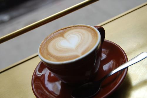 v-day cappuccino.