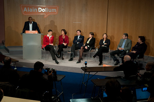 Alain Dolium et les têtes de listes MoDem en Ile-de-France