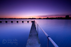 (Claire Hutton) Tags: longexposure pink blue sunset orange water pier purple jetty horizon perspective smooth rail calm walkway handrail afterglow leefilters 06ndgrad 09ndgrad