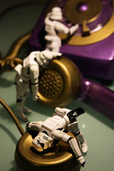 Communication Breakdown (Stfan) Tags: toy actionfigure gold starwars phone purple telephone stormtroopers communication stormtrooper figurine jouet telecom telecommunication hasbro tlphone stormtroopers365