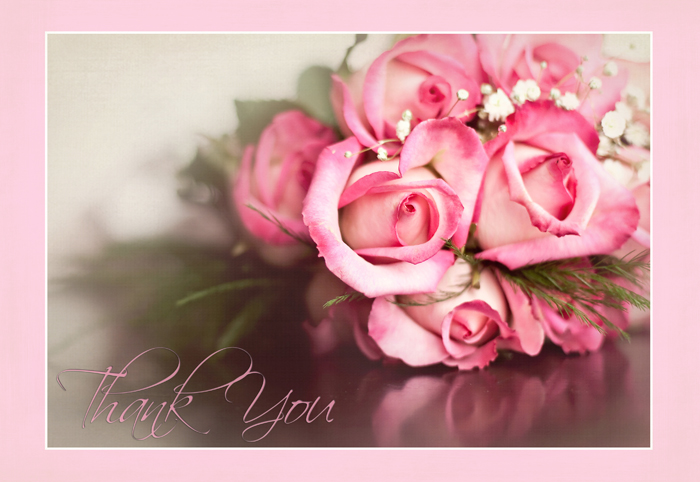 The Rose Texture Thank you border 2 wm
