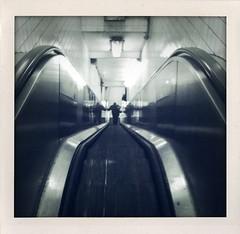 Goin' Down (street level) Tags: city nyc newyorkcity urban newyork downtown manhattan lowereastside escalator gothamist lowermanhattan iphone