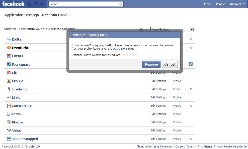 How to remove a facebook spam app