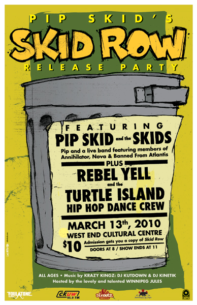 Pip Skid's Skid Row Release Party poster