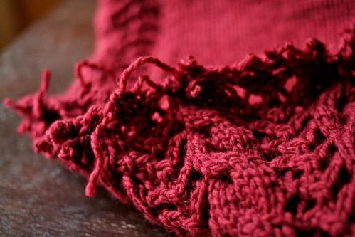 Last night, I cut my knitting.