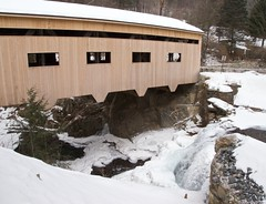 Bissell Covered Bridge and Dam (jcbwalsh) Tags: bridge ma dam massachusetts falls covered bissell charlemont