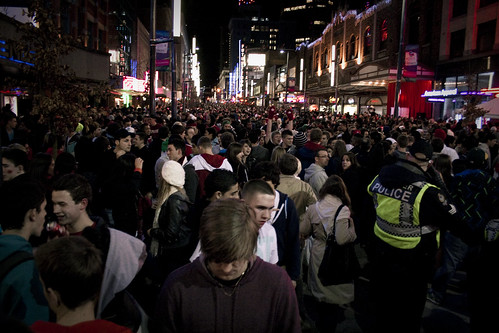 Granville Street during the olympics (2)