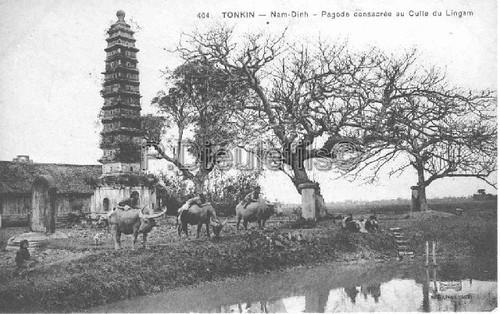 Namdinh pagode conssacrèe au culle du Lingam