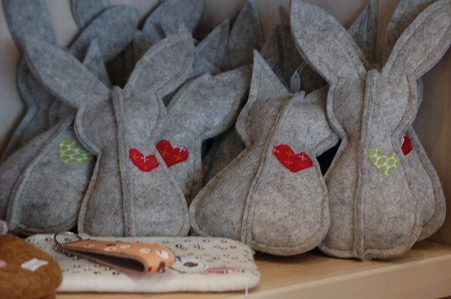 Felt bunnies at Spruce, Memphis, Tenn.