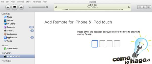 Como Controlar tu iTunes mediante un iPhone/iPod Touch
