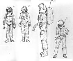 character-designs (de haaff) Tags: pencil ink de sketch ryan zombie designs spacesuit haaff zombienaut