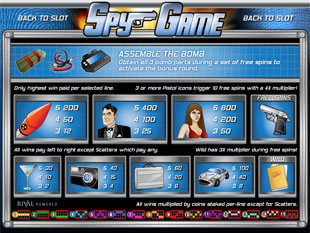 free Spy Game slot mini symbol