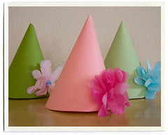 DIY kids party hats decor