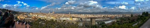 Panorama de Florence depuis la Piazzale Michelangelo