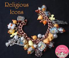 Religious Icons Charm Bracelet Full