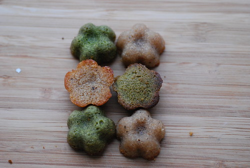 Green tea & ginger spice financiers