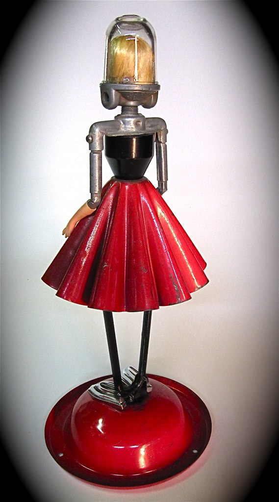 Miss Galaxy Girl found object junk sculpture