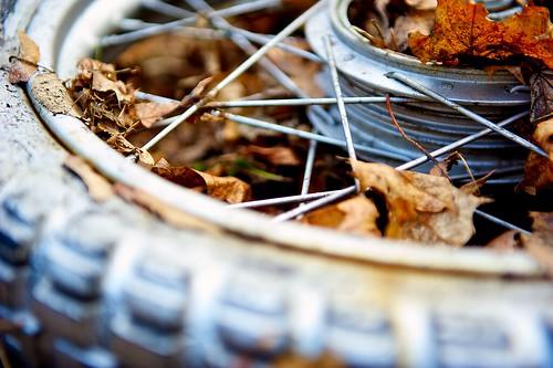 Old Motorcycle Wheel
