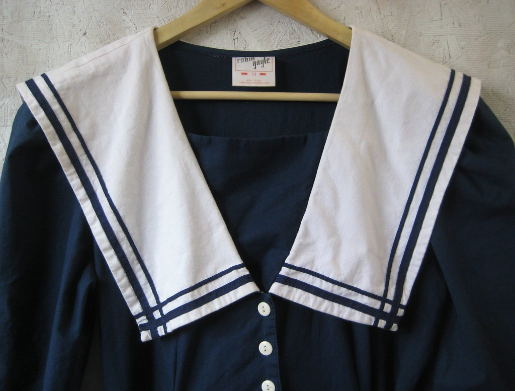 vintage navy SAILOR dress