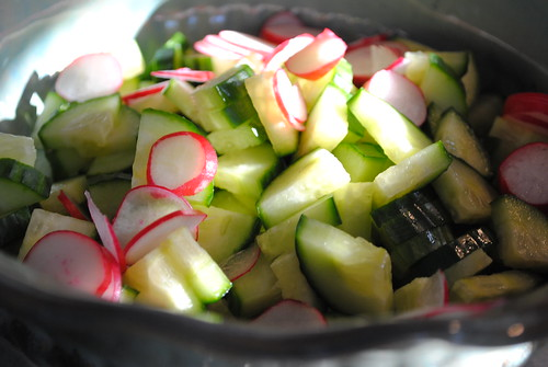 Cucumber Radish Wheatberry Salad