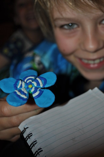 Plasticine Blue Flower