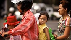 Cambodian family on 'moto'