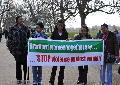 Bradford women together say ... STOP violence against women