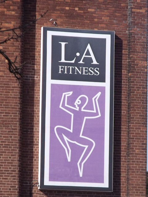 LA Fitness (former cinema) Bristol Road South, Longbridge - sign