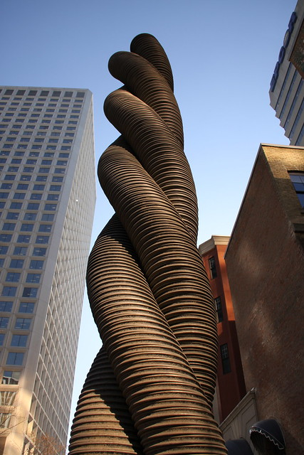 An art installation on Jasper Avenue in Edmonton's downtown.