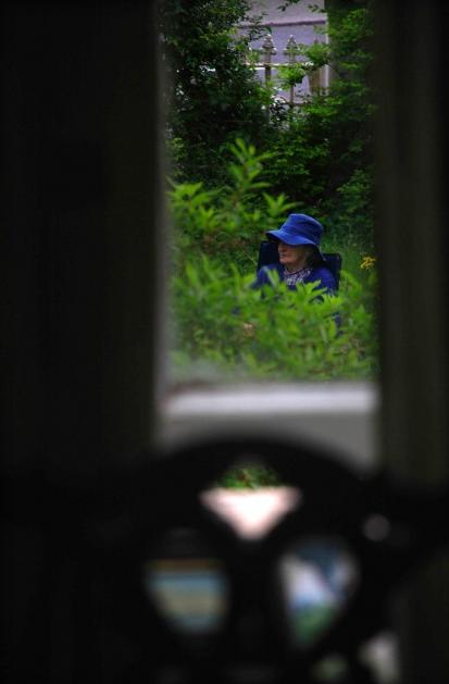Nuala in her Garden