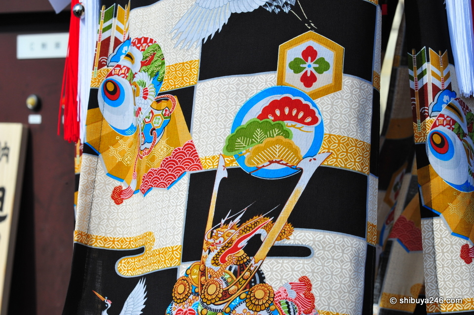 The cloth used on one of the Bonden.