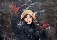 Ann, the Snow Queen (Arcadiuš) Tags: wood winter people woman man girl women poland human snowqueen aerjotl arekjanicki