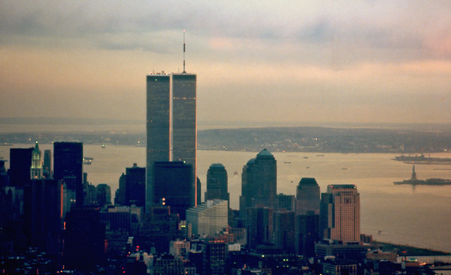 The Twin Towers from the Empire State Building