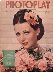 Hedy Lamarr on the cover of Photoplay, May 1944 (Silverbluestar) Tags: pink ladies girls color classic film beautiful beauty vintage magazine hair stars glamour women pretty european womens 1940s cover hollywood actress movies celebrities brunette mgm hairstyles pinup 1944 austrian photoplay womens hedylamarr metrogoldwynmayer